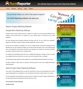 search engine rank reporting software